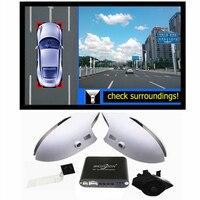 360 вид птица Видеорегистраторы для автомобилей запись с парковки Мониторы Системы, объемный заднего вида Камера для Kia Sportage Ford Escape Honda Accord