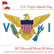 3x5ft U.S. Virgin Islands Territorial And Commonwealth Flag The United States 90*150cm 60*90cm 30*45cm Car For Decoration