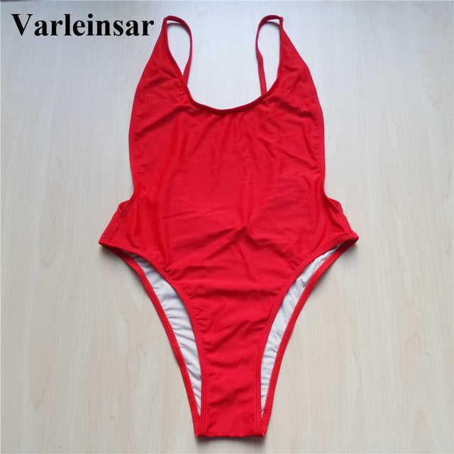 2017 S-XXL Plus size swimwear large size swim suit for women Sexy high cut one piece swimsuit female Bathing suit Monokini V113