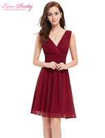 Free Shipping 03989 Double V Neck White Short Party Dress