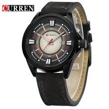 Curren hombres Del Reloj de Los Hombres Reloj de Cuarzo Ocasional Reloj de Pulsera de Cuero Relojes Deportivos Militar Del Ejército Del Relogio Masculino 8155