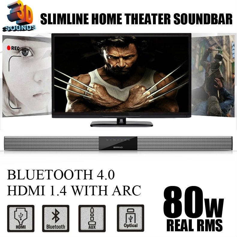WIRELESS TV SPEAKER / TV SOUNDBAR , WITH HDMI&BLUETOOTH DIGITAL INPUTS, 3D SOUND WITH POWERFUL BASS , BEST SOUND BAR FOR TV