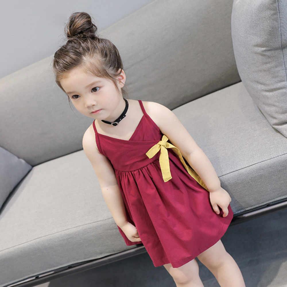 Meninas da criança do verão princesa crianças bebê festa de casamento sem mangas vestido vestidos de bebe para roupas verão crianças menina