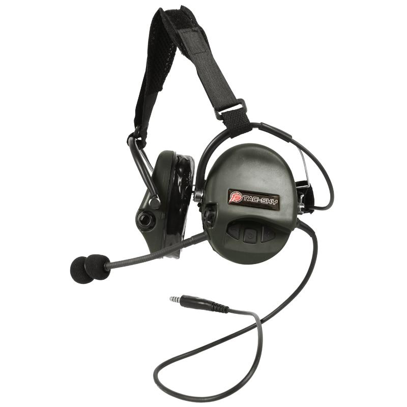 TAC-SKY TCI LIBERATOR II  SORDIN Silicone earmuff version Noise reduction pickup headset-FG