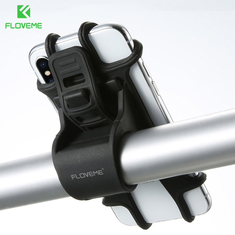 Iphone Holder For Bike >> Us 3 99 20 Off Floveme Bicycle Phone Holder For Iphone Samsung Universal Mobile Cell Phone Holder Bike Handlebar Clip Stand Gps Mount Bracket In