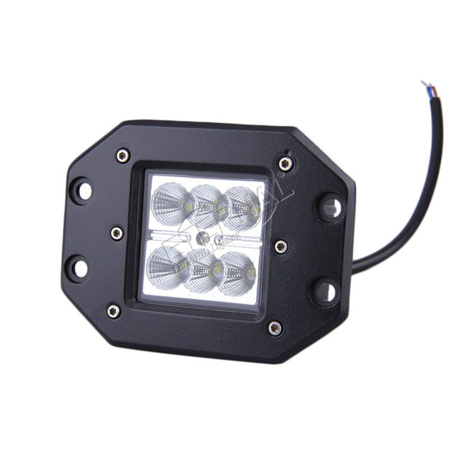 free shipping 2pcs 18W LED work light bumper cube pod pillar A work lamp for offroad 4×4 wrangler tractor trucks grill fog light