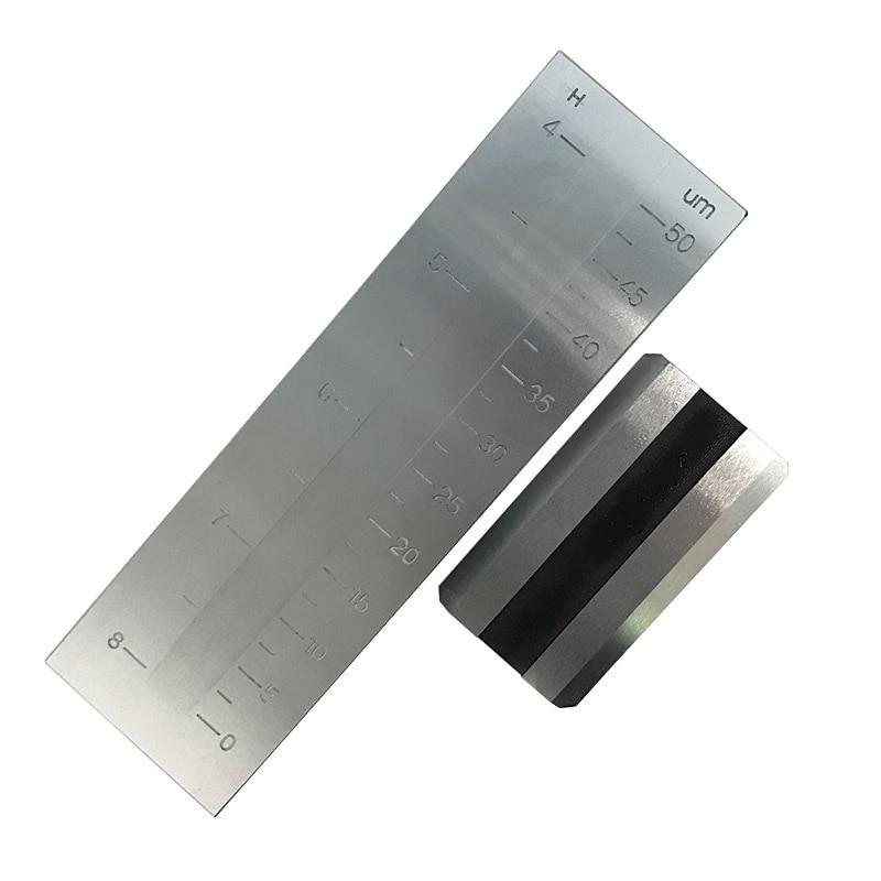 Medidor de Finura do Raspador do Único Entalhe do Aço Inoxidável do Sulco 0-50um de Pushen Único