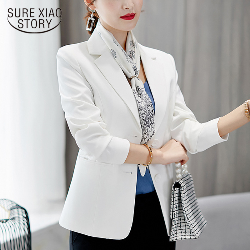 2018 Autumn And Winter Women Coat New OL Style  Large Size Long Sleeve Suit Slim Coat Casual Suit Women Blazer Feminino 1343 40