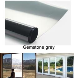 Gemstone Grey Waterproof Window Film One Way Mirror Silver Insulation Stickers UV Rejection Privacy Tint Films Home Decoration