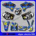 FREE SHIPPING YZ250F 450F 03 04 05 ROCKSTAR 3M TEAM GRAPHICS BACKGROUND DECALS STICKERS KITS RACING OFF ROAD MOTORCYCLE