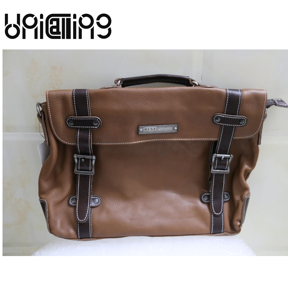 UniCalling Fashion brand Retro genuine leather men messenger bags Large capacity Casual rivet hasp cow leather men bag unicalling brand men genuine leather bag