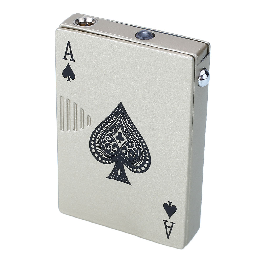 2017 New Fashion Poker Style Windproof Lighter Torch UV Money Note Detector...