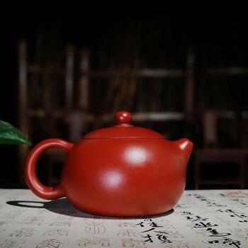 200ML Authentic Yixing Purple Clay Teapot Dahongpao Zhu Mud Raw Ore Xishi Art Pot Kung Fu Tea Set Black Tea Kettle Birthday Gift