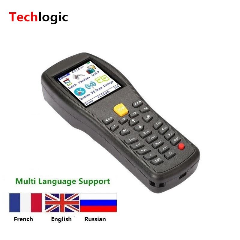 Prix pour Sans fil Barcode Scanner De Poche PDA Terminal pour Supermarché et Entrepôt Laser Bar Code pistolet Inventaire Barcode Scanner