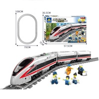 Technic Electric motor Light train track Car model Bricks Compatible Legoe Building Blocks toys for Childrens gift 647Pcs