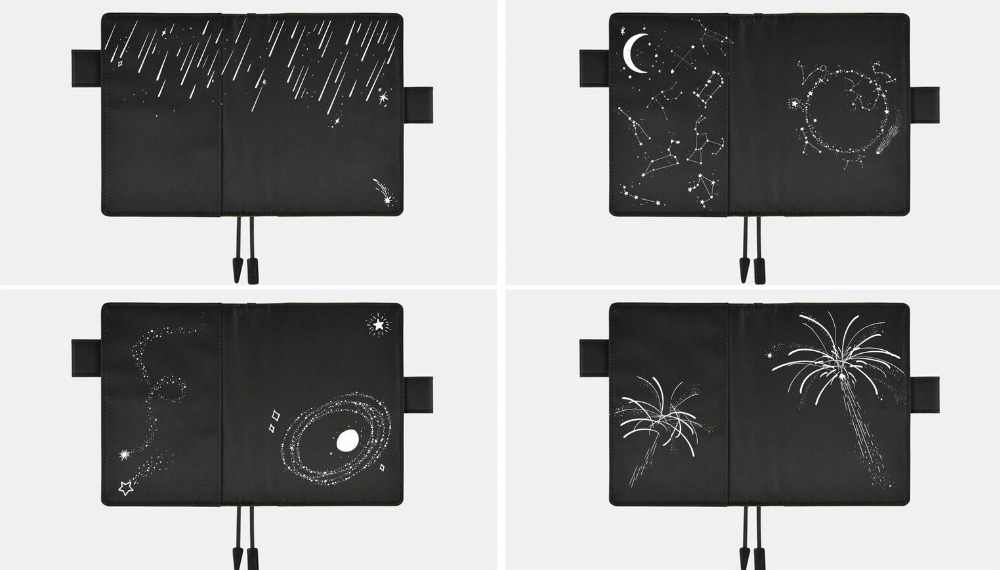 A5 a6 Transparent hobonichi pvc protect cover  notebook  protective case hobo  shooting stars firework  constellation