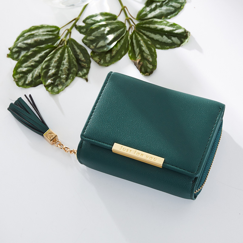 где купить Fashion Tassel Zipper Short Wallet Female PU Coin Purse For Girls Small Leather Women Wallets Credit Card Pocket Dropshipping по лучшей цене