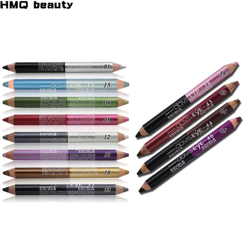 12 kleuren markeerstift glitter oogschaduw eyeliner pen make-up duurzaam waterdicht sweatproof double-ended ogen potlood make-up