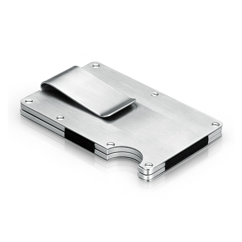 Metal credit card id holder fashion mini money holder with for Automatic business card dispenser