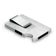 Металл кредитной карты ID владельца модные мини деньги держатель с RFID Анти-главный кошелек Автоматическая кредитной карты держатель