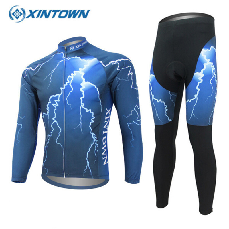 ФОТО XINTOWN Hot Sale 8color Long Sleeve Cycling Jersey Ciclismo Men's Breathable Bicycle Jacket MTB Bike Clothes Free Shipping