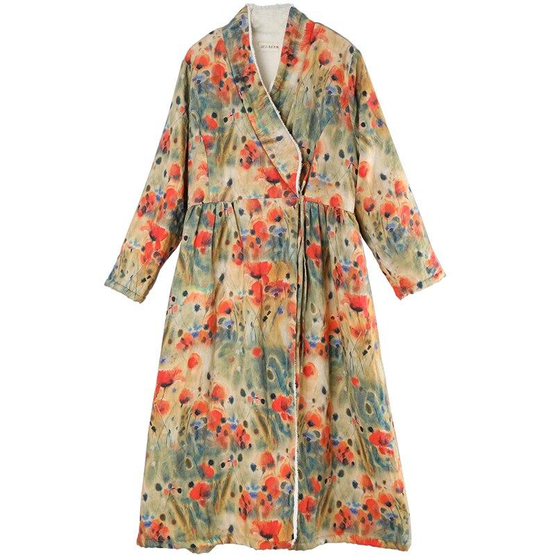 LZJN осень зима Женская шерстяная флисовая куртка пальто женское длинное пальто верхняя одежда теплая Толстая цветная приталенная Длинная в... - 5