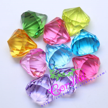 Envío Gratis Color Mix 30 MM 35 Unids Chunky Perlas de Imitación Forma Granos de Acrílico Chunky Collar Colgante