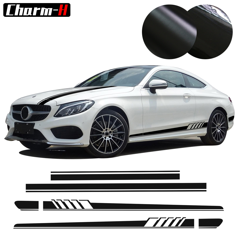 Car Styling Edition 1 Set Side Stripes Hood Roof Rear Decal for Mercedes Benz C Class W205 Coupe Sedan C200 C300 AMG Stickers in Car Stickers from Automobiles Motorcycles