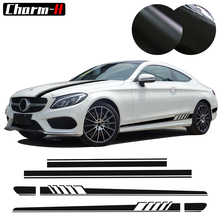Car Styling Edition 1 Set Side Stripes Hood Roof Rear Decal for Mercedes Benz C Class W205 Coupe Sedan C200 C300 AMG Stickers