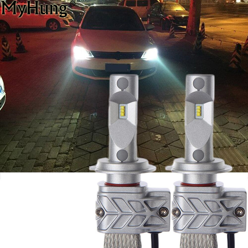 Car LED H7 30W 3000LM Headlight For Chips Car Fog Lamp DRL Replace Light Source Driving Bulbs Copper Cooling Auto Accessories led 500w 400w 300w 200w 150wintegrated led light source led bulbs epistar 45mil 45mil chips apply led project light lamp led