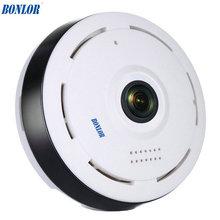 BONLOR 960P WIFI IP Camera 1.3MP 360 Degree FIsheye Camera Alarm Baby Monitor Camera Network Audio Surveillance Night Vision Cam