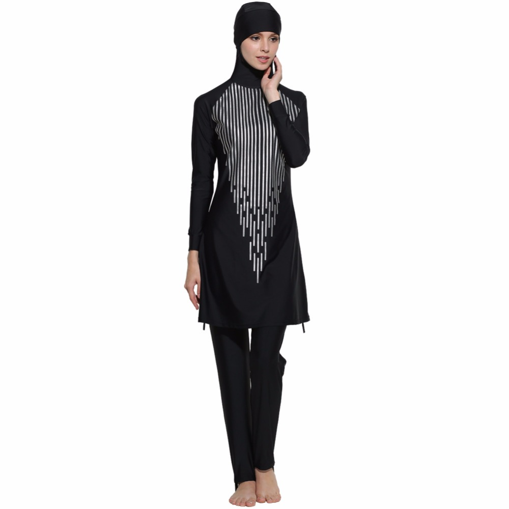 Penuh pakaian renang sederhana islamic Wanita pakaian renang muslim baju renang  muslimah swimwear dewasa jilbab Arab Pantai Memakai pinggang tinggi di ... b9eed75b03