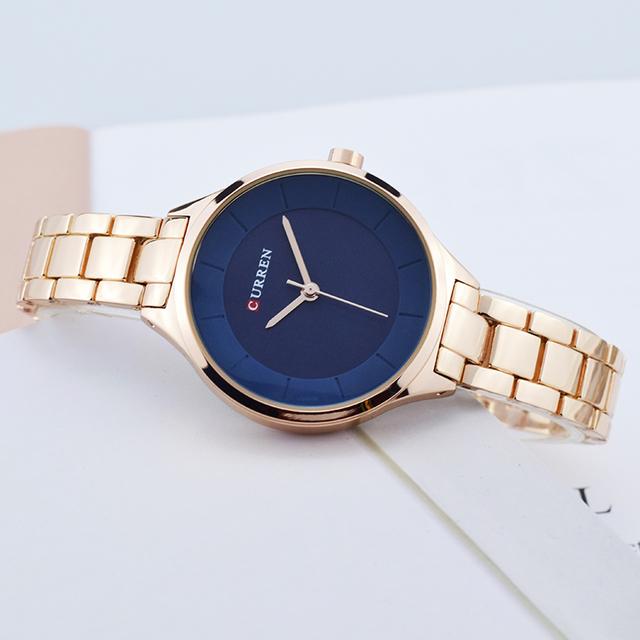 CURREN Rose Gold Watch Women Watches Stainless Steel Ladies Women's Watch Women 2018 Luxury Gold Color Fashion Relogio Feminino