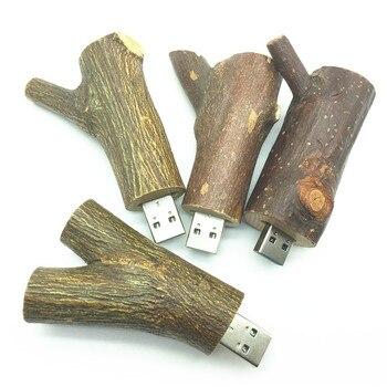 Wholesale novetly Flash disk Wooden model usb 2.0 tree branch memory stick pendive 4GB 8GB 16GB 32GB thumb drive usb creativo