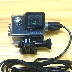 Image 5 - Camera Thể Thao Phụ Kiện Túi Chống Nước Vỏ Cóc Sạc Bằng Cáp USB Cho SJCAM SJ4000 Không Sj7000 C30 EKEN H9 H9R Cho chân Ô Tô Xe Máy
