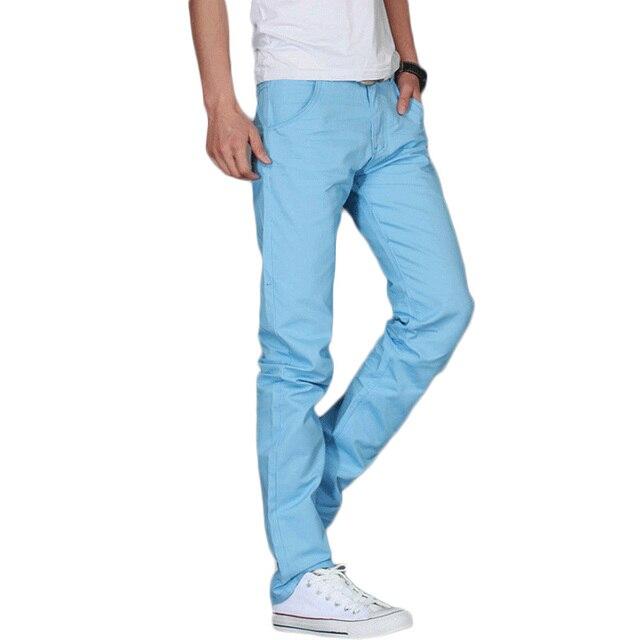 Plus Size 28-38 2017 Spring and Summer Men Length Pants Korean Style Men Casual Full Pants Causual Slim Long Trousers Z10
