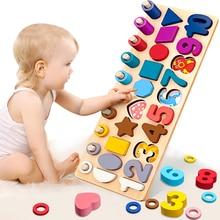 Brinquedos educionais infantis, brinquedos educacionais de madeira multifunção, placa logaritórmica montessori, brinquedos de matemática de madeira para crianças