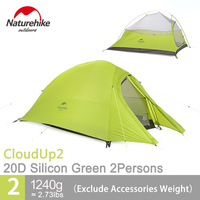 Naturehike Tent 20D Silicone Fabric Ultralight 2 Person Double Layers Aluminum Rod Camping Tent 4 Season With Mat NH15T002 T