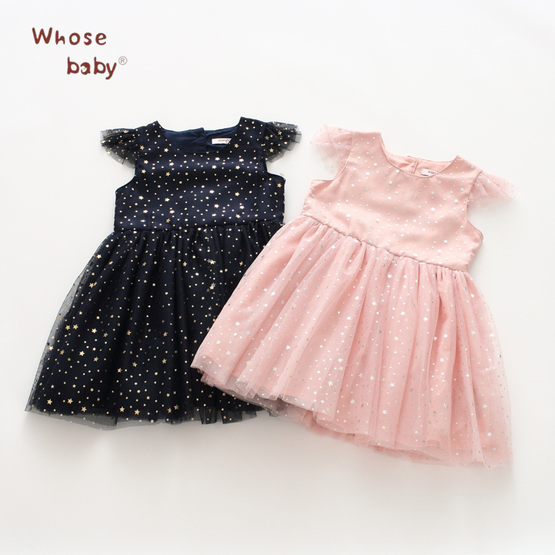 Baby Girls Dress Summer 2018 Mesh Evening Princess Dress For Girls Toddler Children Clothing Star Party Wedding Kids Clothes цена