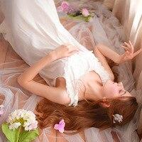 Summer Sleeveless Long White Nightgowns Cotton Lace Round Sleepshirts Sweet Elegant Princess Dress Sexy Nightwear Women Dresses