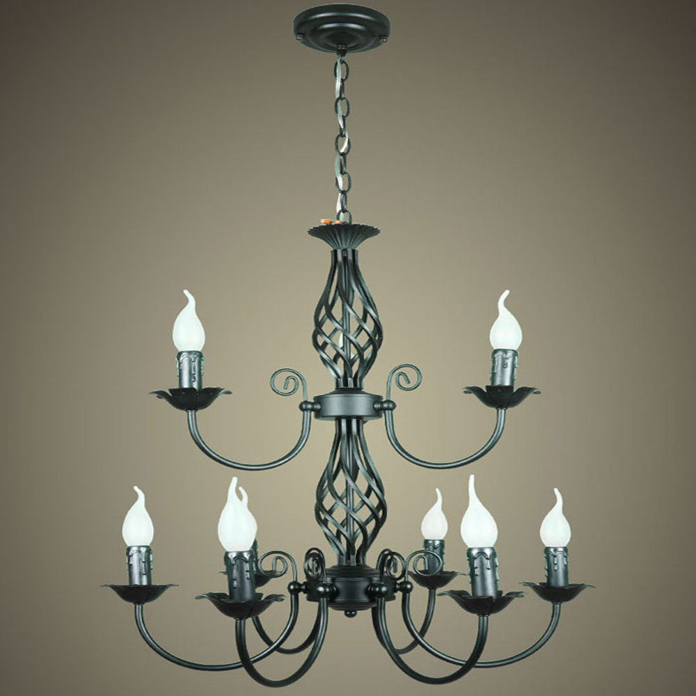 Fashion vintage wrought iron chandelier american style ...
