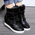 Women Ankle Boots Height Increased Ladies Heels  casual shoes Black white Wedges Boots High Top Woman Ankle Boot size 35-40