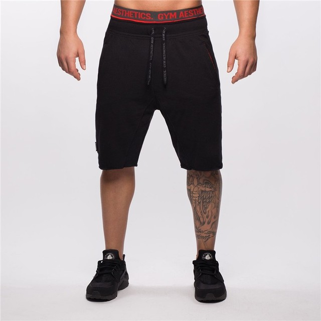 New Fashion Mens Sporting Beaching Shorts Trousers Cotton Bodybuilding Sweatpants Fitness Short Jogger Casual Gyms Men Shorts