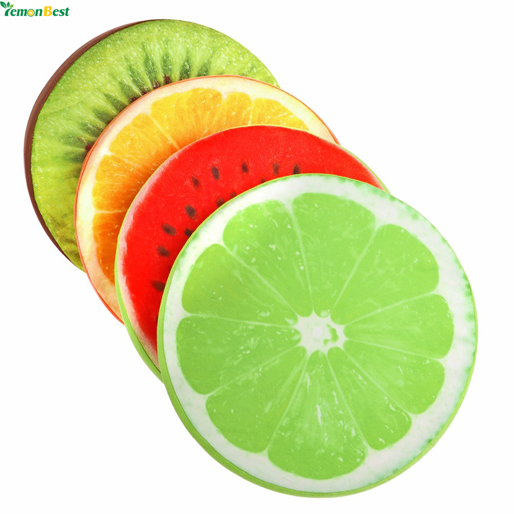 3d simulation fruit cushion 32 5cm round pillow chair seat for Coussin rond pour chaise