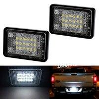 2xCar LED License Plate Lights 12V For Mercedes GLK X204 GLK350 Benz Accessories 18LED Number Plate