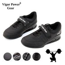 Vigor Powe gear высокое качество тяжелой атлетики обувь для Suqte силовой атлетики тренировки кожа Нескользящая Тяжелая обувь