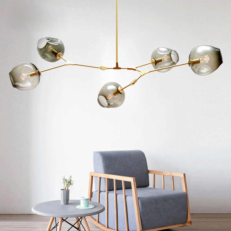 Nordic Modern Pendant Lights Designer Glass Pedant Lamps Art Decoration Light Fixtures for Bar Dining Room Kitchen Living Room