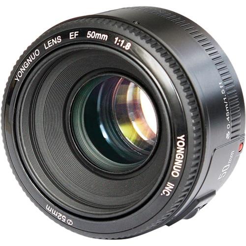 Yongnuo YN 50mm f/1.8 Lente para la cámara de Canon D650 D700 60D ...