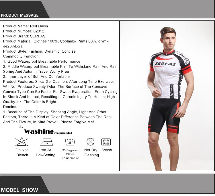8742ff98867 SERFAS Summer Cycling Men Short Jersey Suit Set MTB Mountain Bike ...