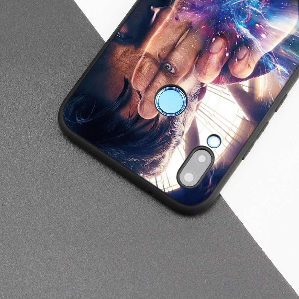 Blcak Silicone Case Cover for Huawei P20 Mate 10 20 Lite Pro P Smart Phone Soft Cases Capa Coque Fall Tardis Box Doctor Who DW